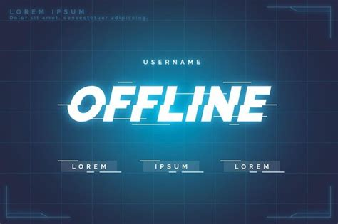 Download Offline Twitch Banner Gammer Style for free in