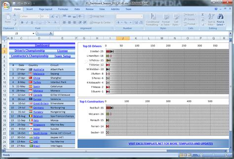 Download Formula 1 Schedule and Championship Tracker 1