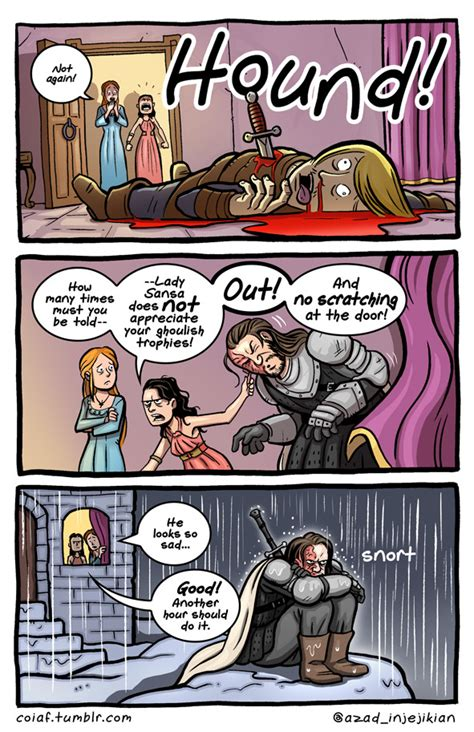 Witty Comics Based on Characters & Scenes From 'Game of