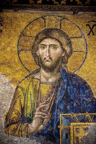 The Deesis mosaic of Christ, widely considered the finest