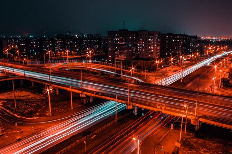Time Lapse Photography of Road during Night Time · Free