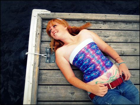 outlaw@home: Tie-Dye Duct Tape Corset Top