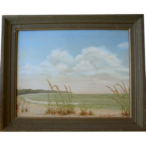 Seascape Oil on Board signed Linus Beck : My Favorite