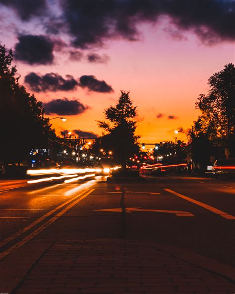 Time-Lapse Photo of Road During Golden Hour · Free Stock Photo